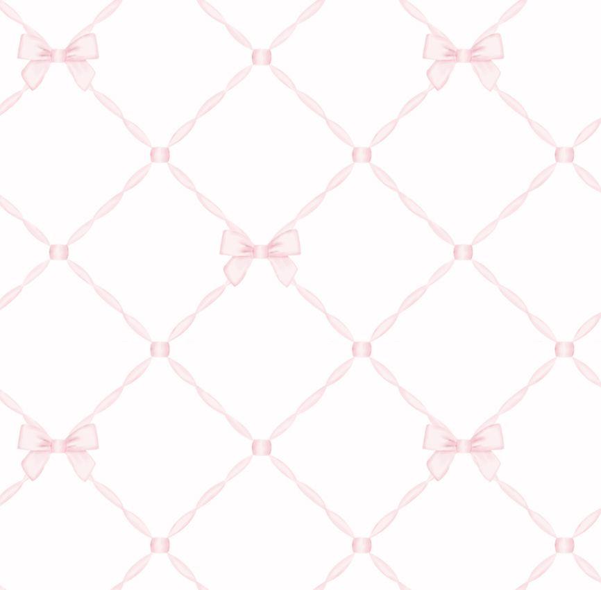 Papel de Parede - Laço Rosa