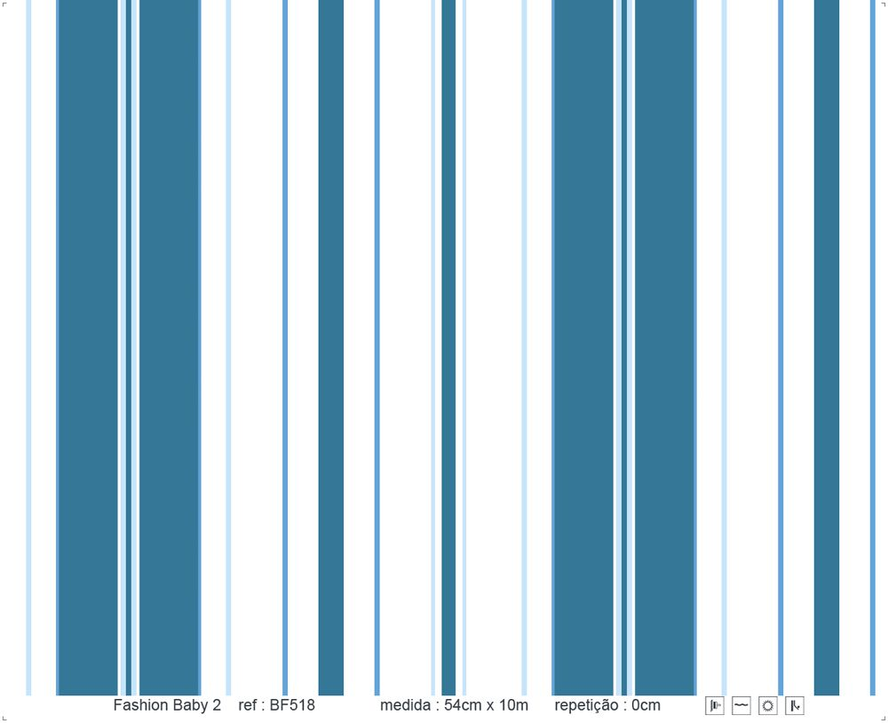 Papel de Parede - Listra Azul Marinho