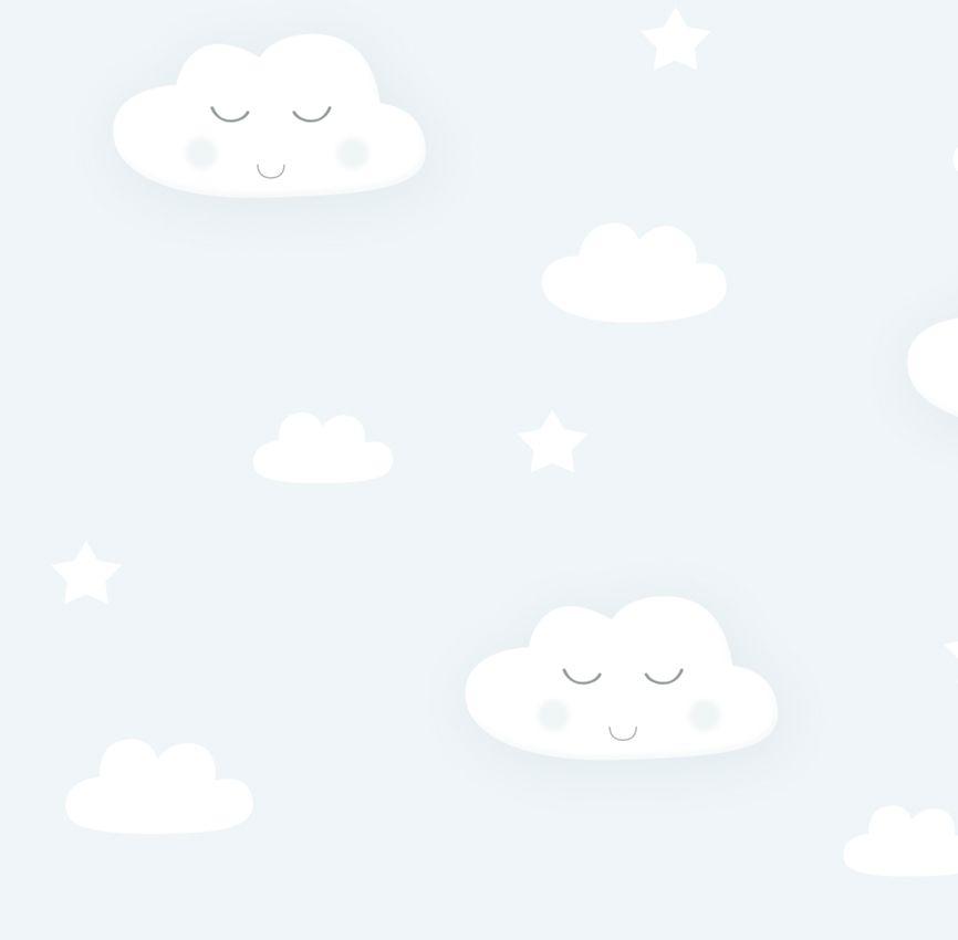 Papel de Parede - Nuvem Sorriso Cinza