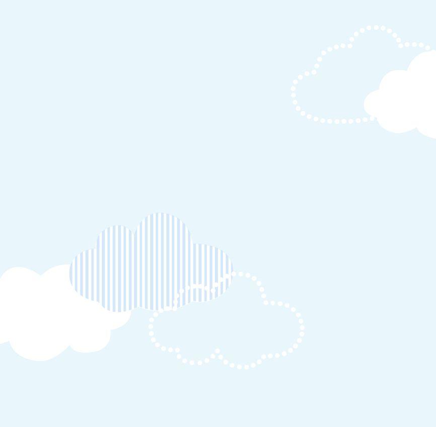 Papel de Parede - Nuvem Patchwork Azul