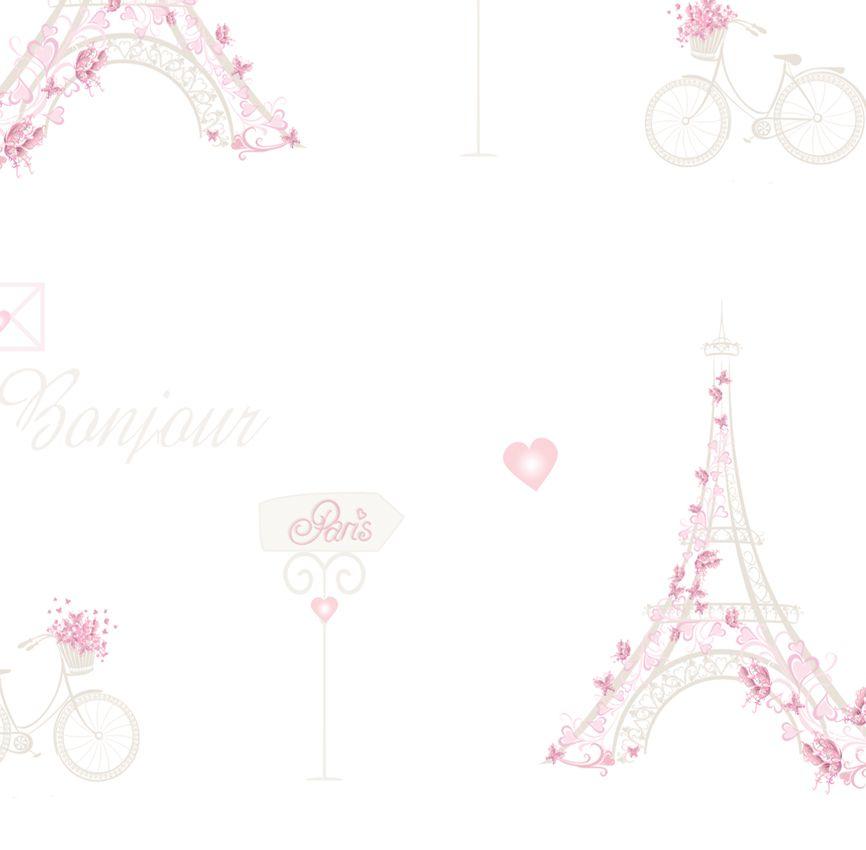 Papel de Parede - Paris Rosa