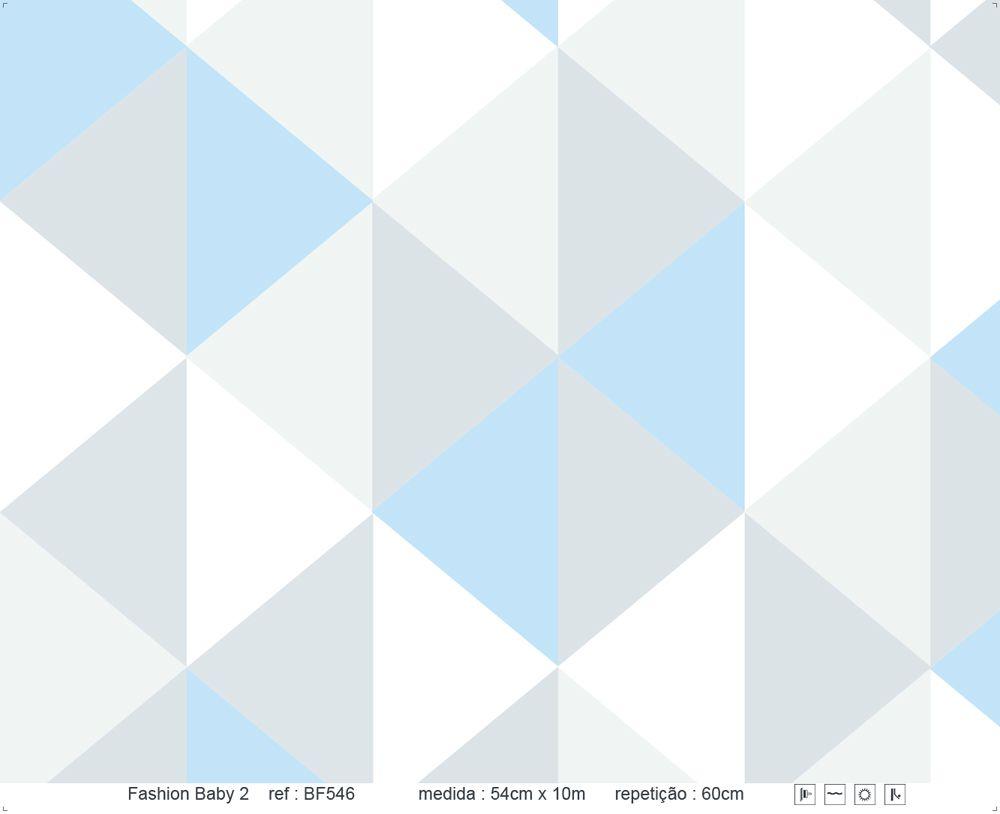 Papel de Parede - Triângulo de Pé Azul