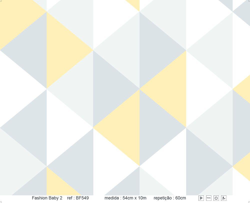 Papel de Parede - Triângulo em Pé Amarelo