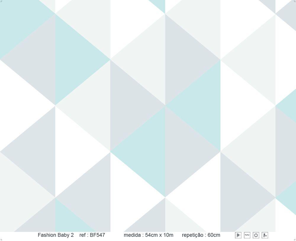 Papel de Parede - Triângulo em Pé Azul Claro