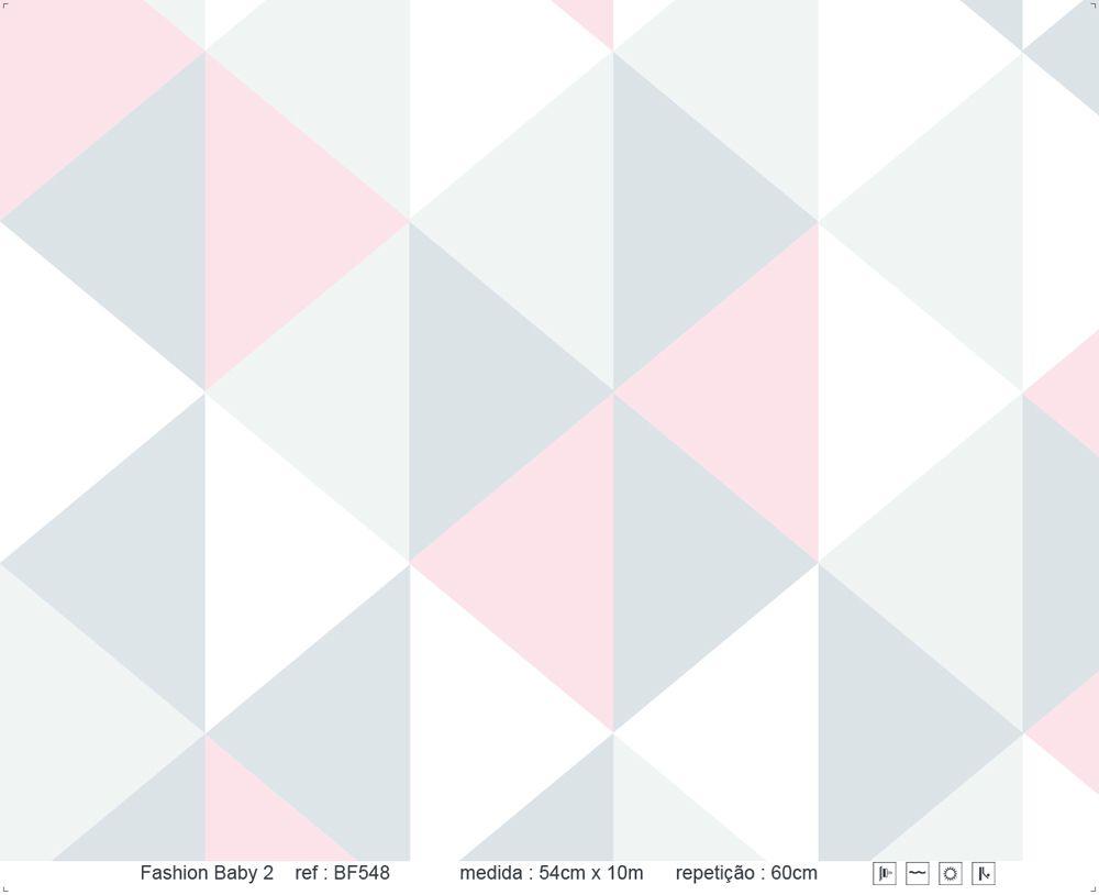 Papel de Parede - Triângulo em Pé Rosa