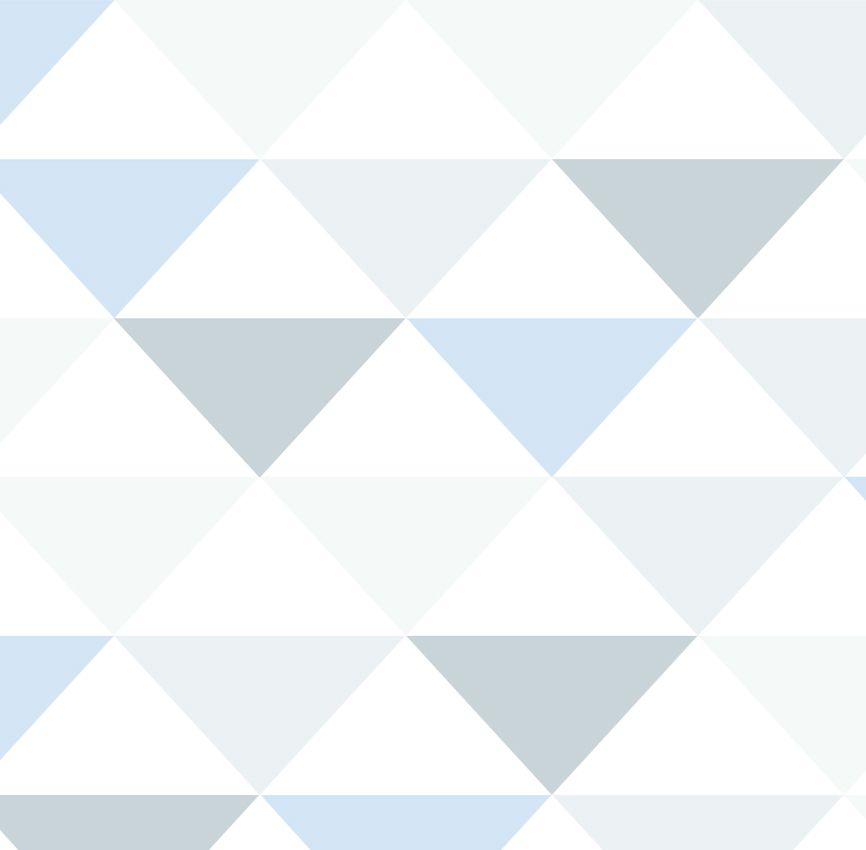 Papel de Parede - Triângulo Inverso Azul