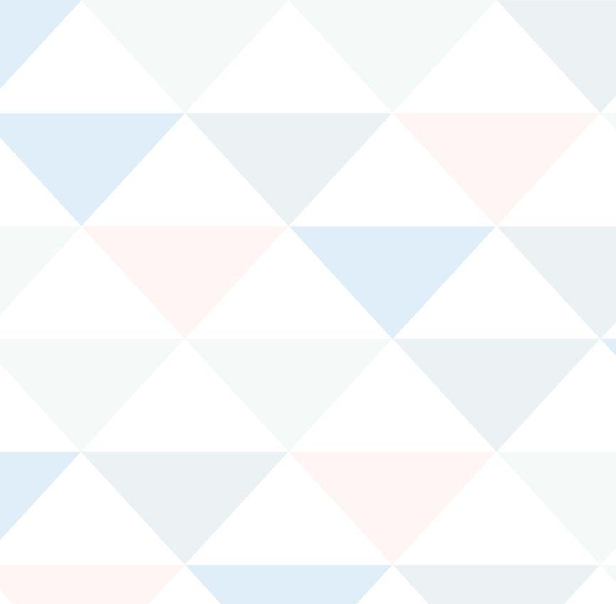 Papel de Parede - Triângulo Inverso Azul e Rosa