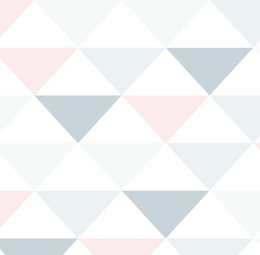 Papel de Parede - Triângulo Inverso Rosa