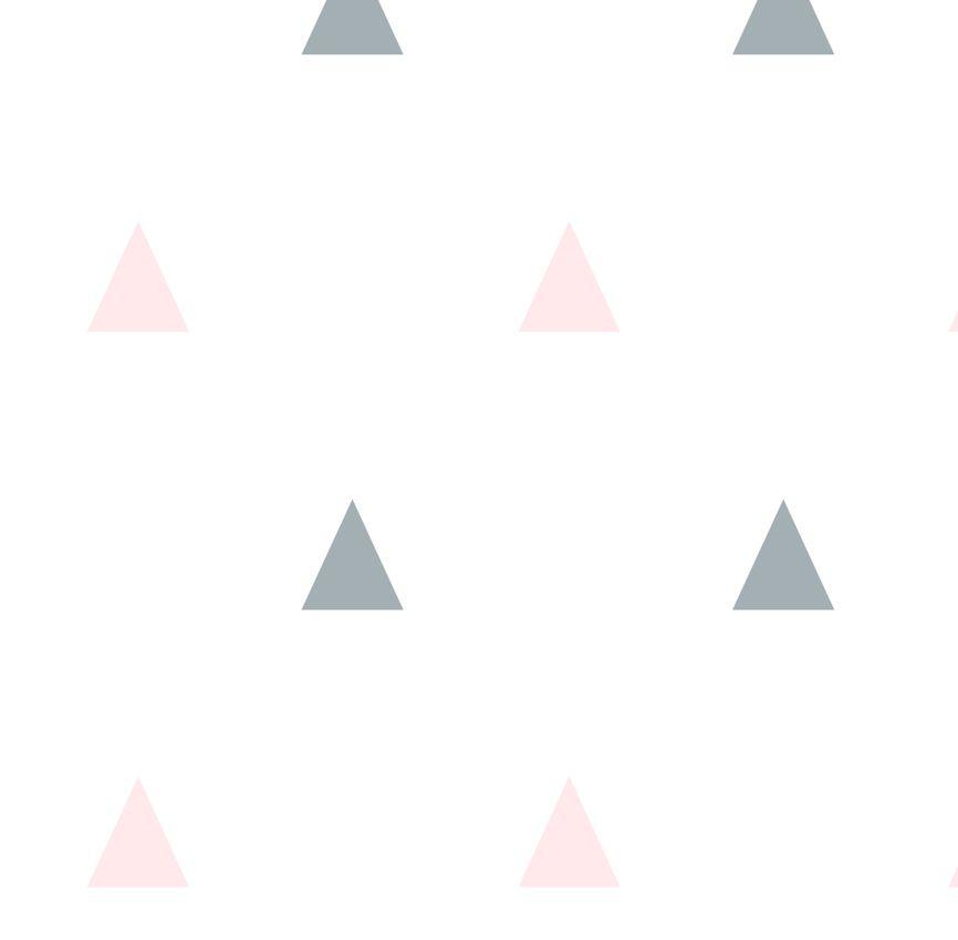 Papel de Parede - Triângulo Pequeno Rosa