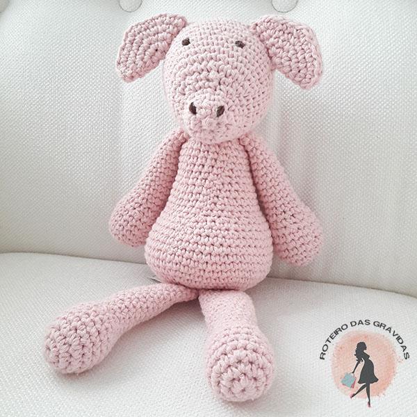 Porquinho de tricot