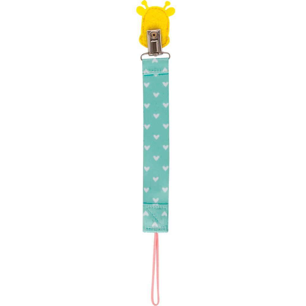 Prendedor de Chupeta Animal Fun - Girafa