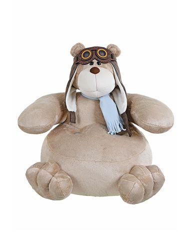 Puff de Pelúcia Urso Bochecha Aviador