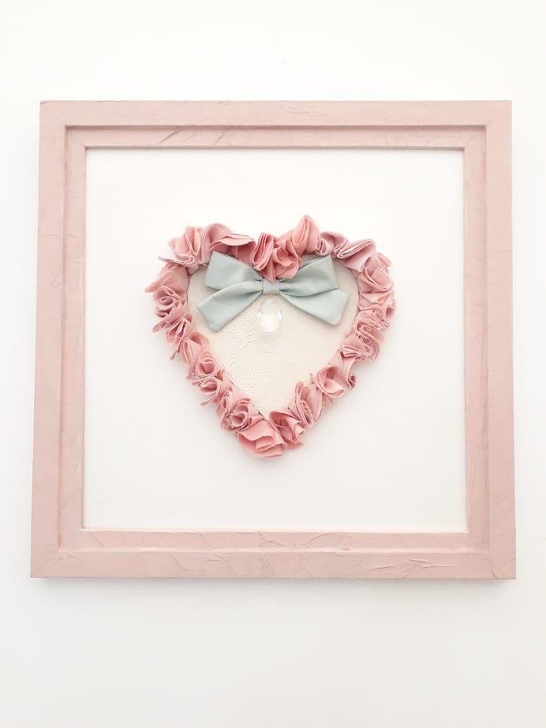 Quadro Coração – Rosa