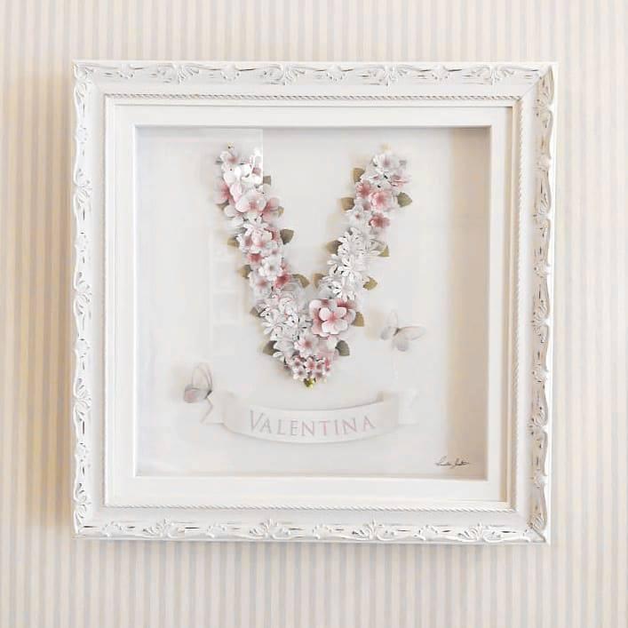 Quadro Floral - Letra