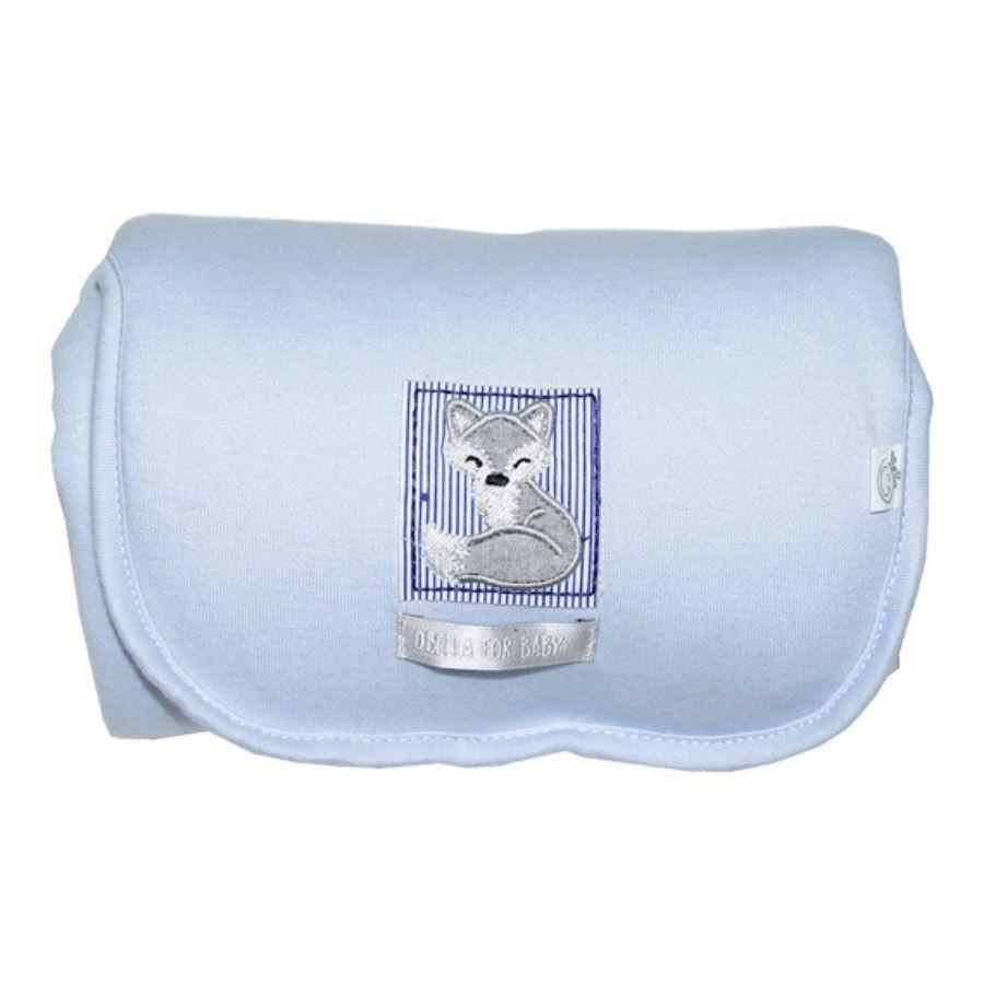 Trocador Portátil – Com Forro Plástico - Azul Raposa