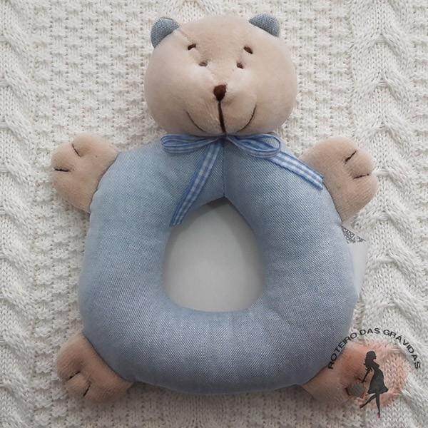 Ursinho chocalho azul