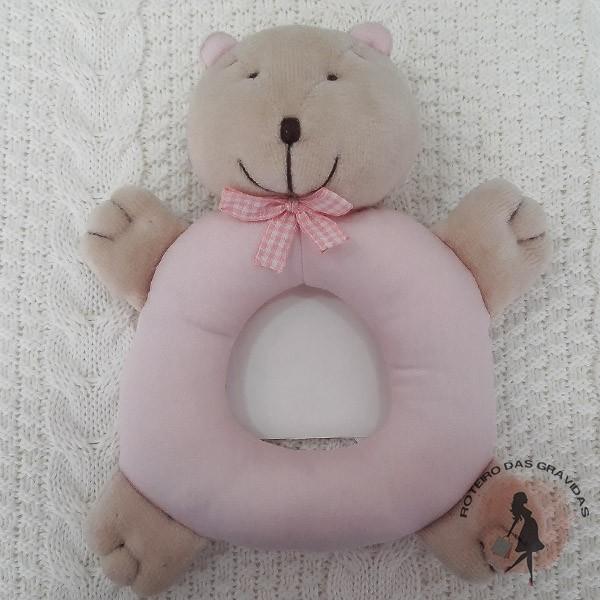 Ursinho chocalho rosa