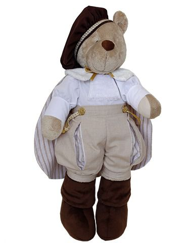Urso de Pelúcia Bob Príncipe - Bege