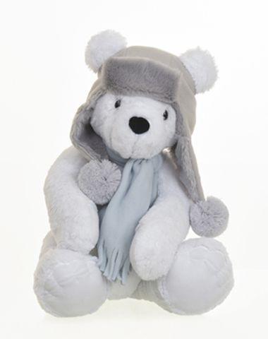 Urso de Pelúcia Polar Sentado