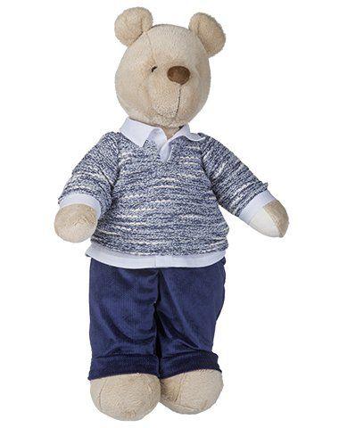 Urso de Pelúcia Bob Tricot - Azul