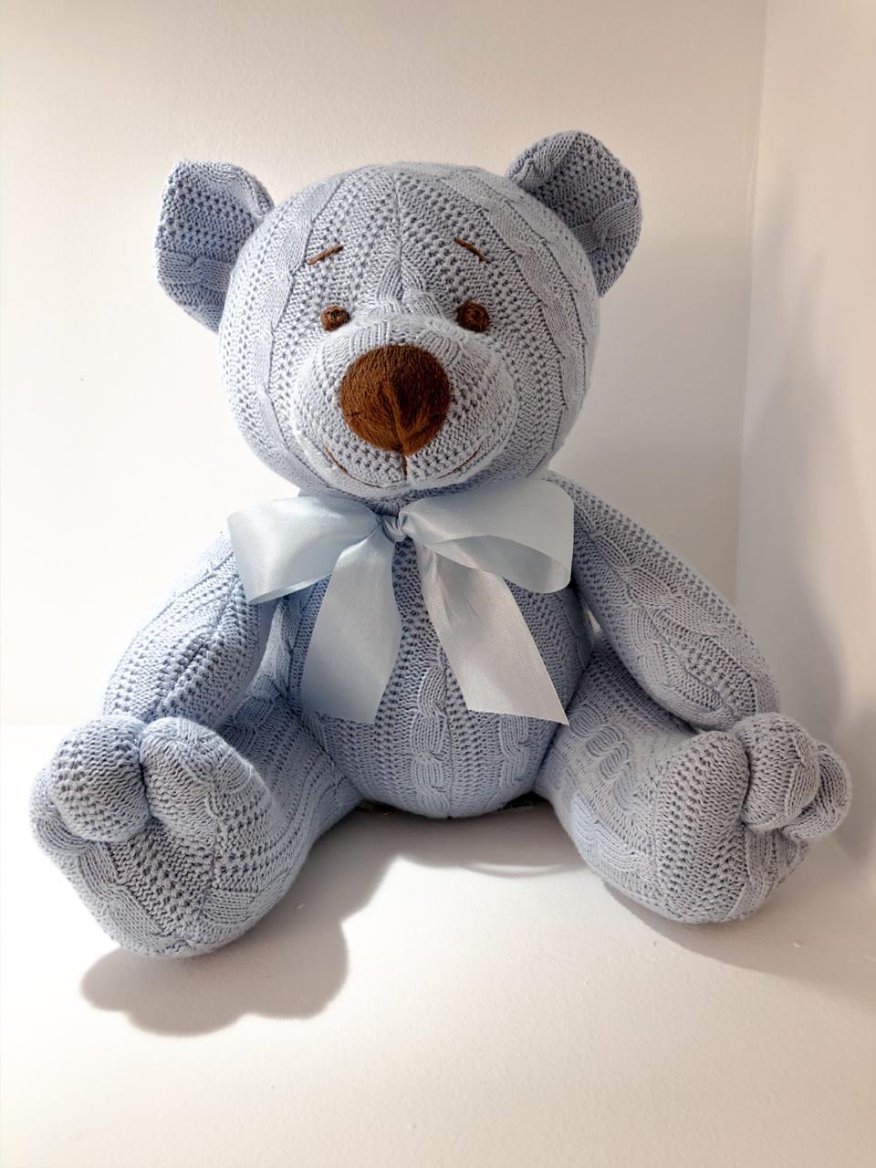 Urso de Tricot - Azul