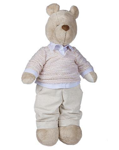 Urso de Pelúcia Bob Tricot - Bege