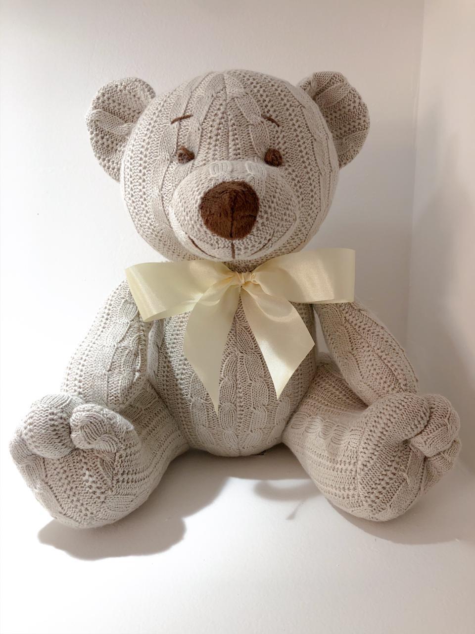 Urso de Tricot - Bege