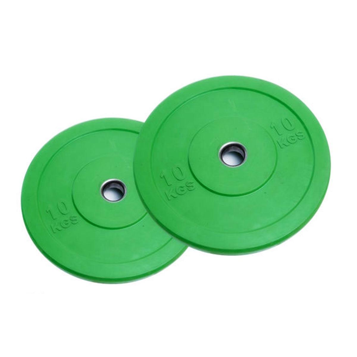Anilha de Borracha Bumper Plate Furação Olímpica 10,00kg Wellness
