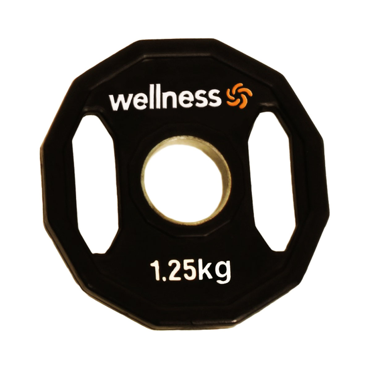 Anilha Emborrachada Furação Standard 12 Faces com Pegada 1,25kg Wellness
