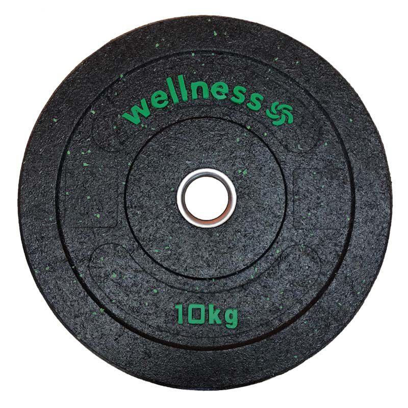 Anilha Olímpica Borracha New Bumper Plate 10kg verde Wellness