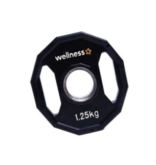 Anilha Wellness Emborrachada Furação STANDARD 1,25 kg