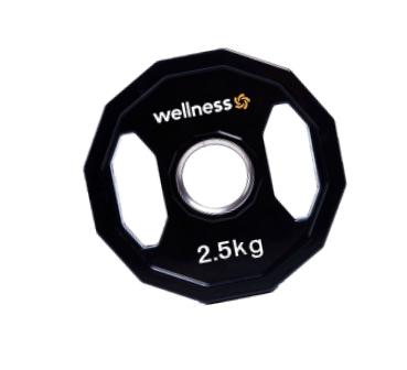 Anilha Wellness Emborrachada Furação STANDARD 2,50 kg