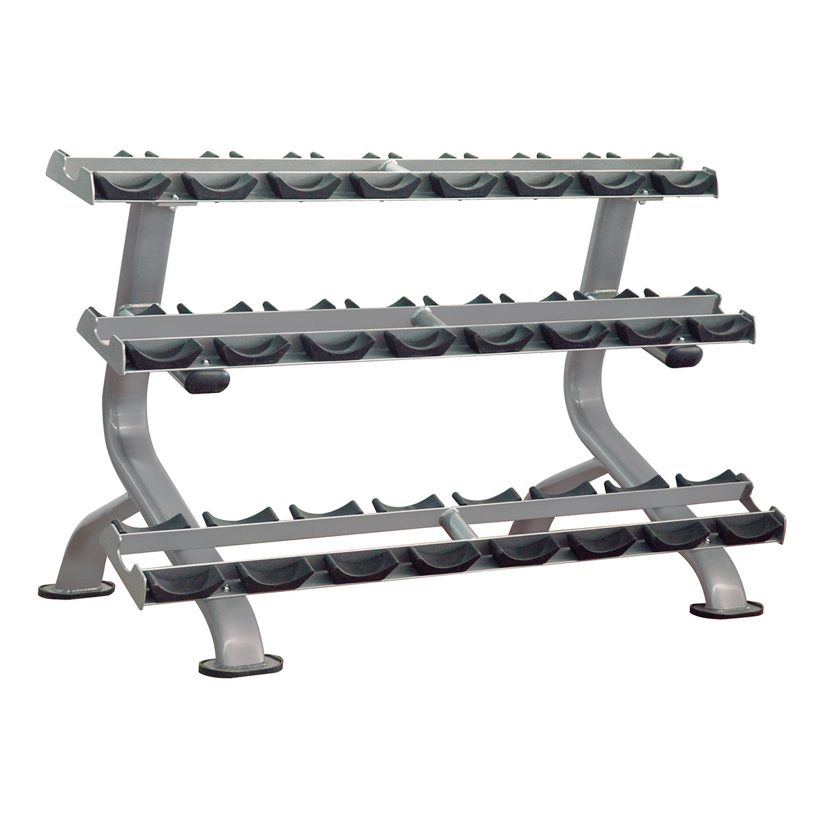 Estante Tripla para 12 pares (Dumbbell Rack) Impulse