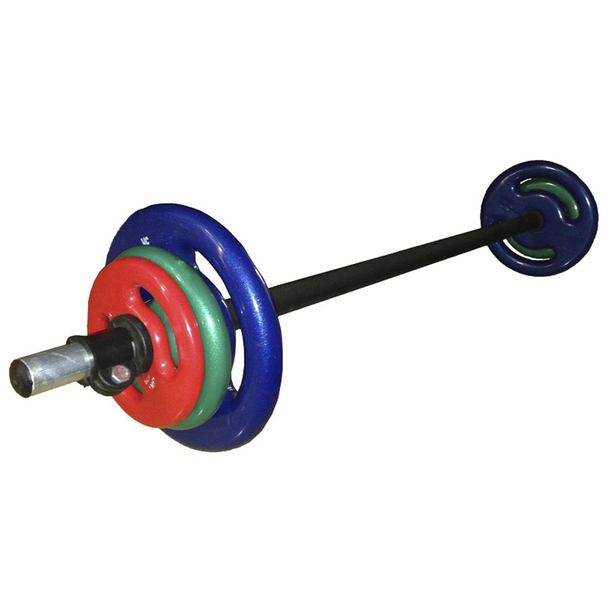 Kit Pump 1 barra com 1 par de anilhas de 1,2 e 5Kg