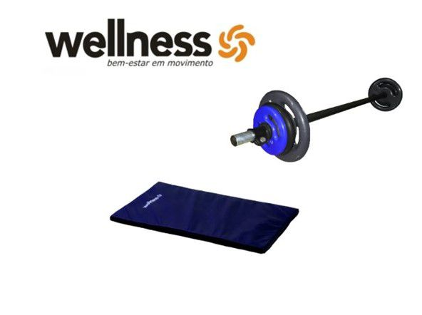 Kit Wellness - Pump Wellness + Colchonete (cores diversas)
