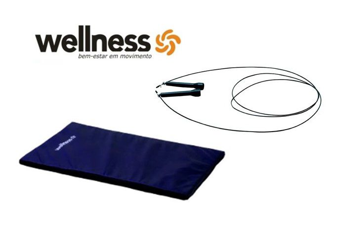 Kit Wellness - Corda Wellness + Colchonete (cores diversas)