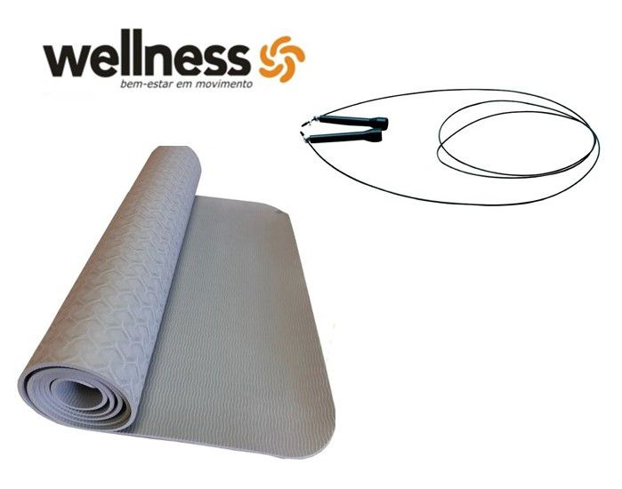 Kit Wellness - Corda Wellness + Tapete Yoga
