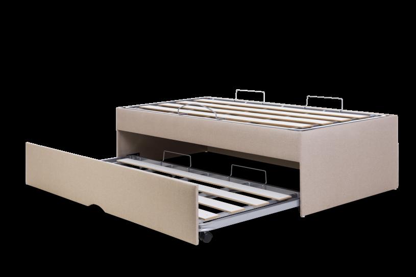 Box Bicama Flat Pilati Com Ripas rigidas Vira Casal (Sem Colchão) 0,96x2,03 Solteiro Americano Corino Bege