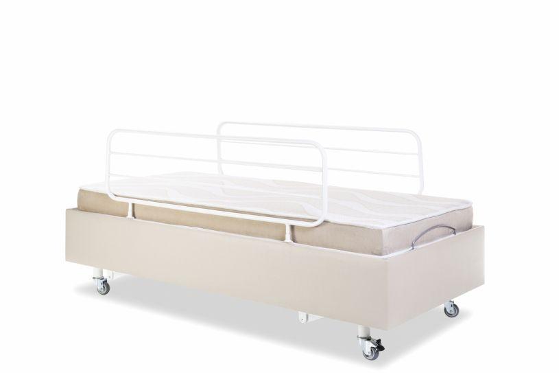 Cama Hospitalar Motorizada com Elevação do Leito Medical-Confort Pilati c/ Colchão Original Pilati c/ Rodas c/ Grades