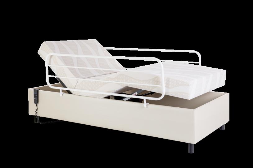 Cama Motorizada Hospitalar Centauro 3 Articulações Colchão Original Acoplado e Rodas + Grade Pilati Branca
