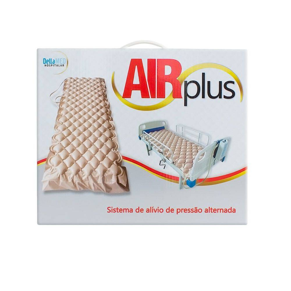 Colchão De Ar Pneumático C/ Sistema De Alivio De Pressão Alternada Air Plus Com Compressor Dellamed