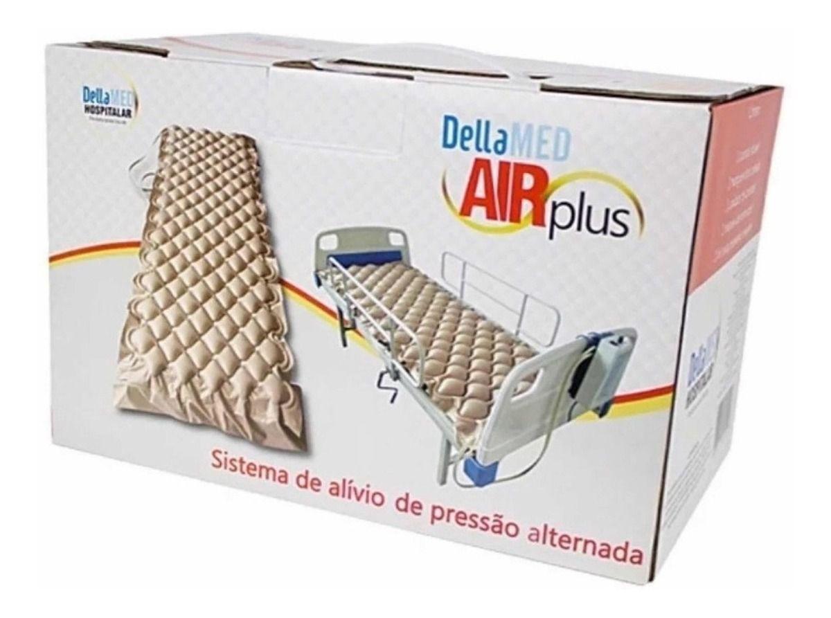 Colchão Pneumático Anti Escaras Air Plus Completo Dellamed 220V