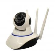 Câmera IP PTZ 1.0 MP 720p Wifi Sem Fio 3 antenas