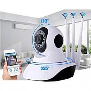 Câmera Ip Robô HD Sem Fio WIFI 360° 3 Antenas PTZ