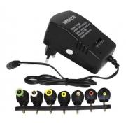 Fonte Carregador Universal Regulável 4,5V até 12V 7 Plugs 3A