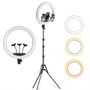 Iluminador LED Ring Light 18 Polegadas com Suporte Tripé 2mt