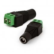 Kit 8 conector adaptador plug P4 fêmea com borne