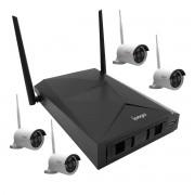 Kit Monitoramento NVR com 4 Câmera IP HD Sem Fio Fácil Instalação