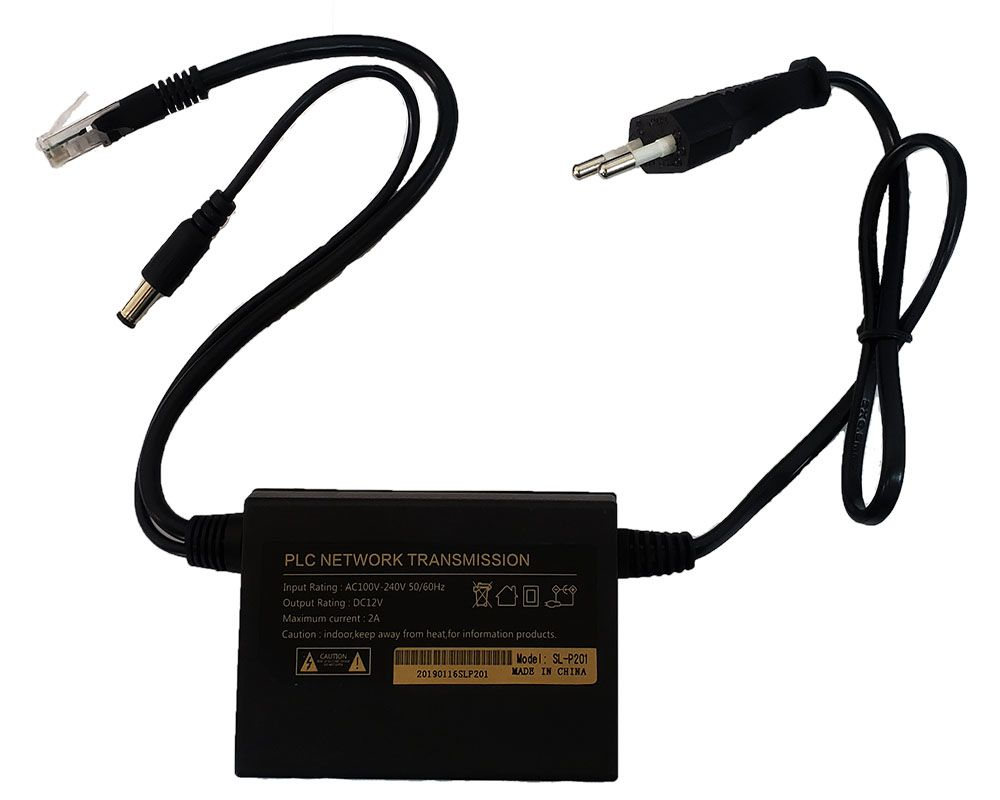 Adaptador PLC Powerline Internet via rede elétrica Bivolt PAR