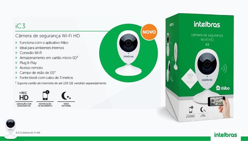 Câmera IP Wifi Sem Fio 2.8mm IC3